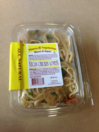 Vegan chicken lo mein