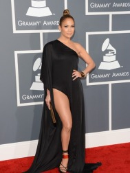 J-Lo pushes the boundaries outlined in the dress-code memo sent to all Grammys attendees/PHOTO VIA extratv.com