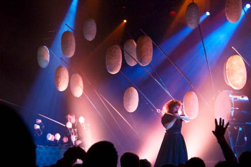 "Purity Ring brought their ""dreamy synth-infused whatever-you-want-to-label-it brand of music"" to the House of Blues last Wednesday/ PHOTO BY Sydney Moyer"